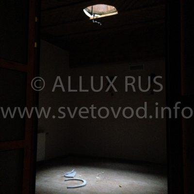 Световоды ALLUX в Этномире, сравнение освещённости