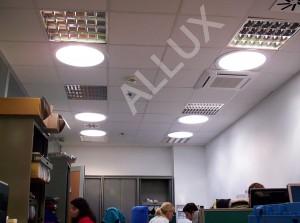 Равномерное освещение офиса световодами ALLUX