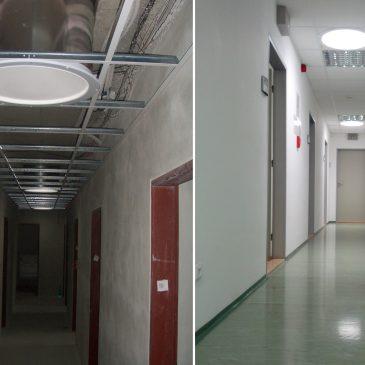 Солнце в коридоре с помощью световодов